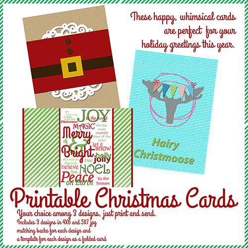 Cara Vincens Printable Christmas Cards