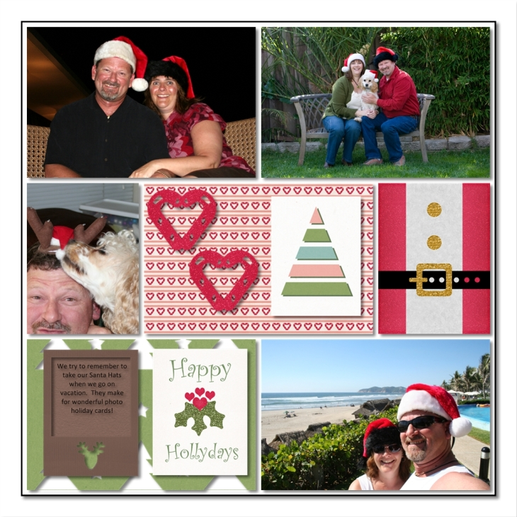 Christmas Wishes Layout using MPearson, Christmas Wishes