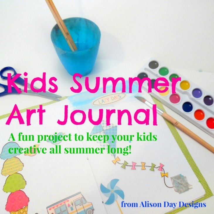 Kids Summer Art Journal by Alison Day Designs - square image